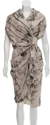AllSaints Skull De Jouy Silk Dress