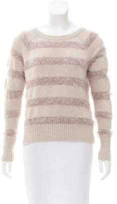 Rebecca Taylor Strip Long Sleeve Sweater