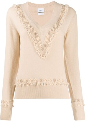 Barrie V-neck knitted jumper