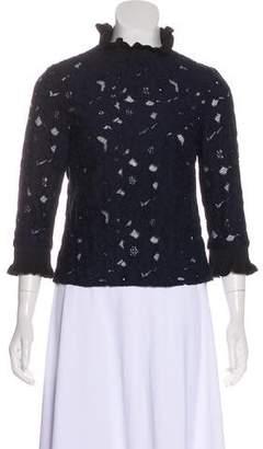 Tara Jarmon Long Sleeve Lace Top