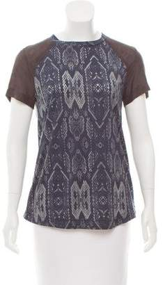 Rebecca Taylor Printed Short Sleeve Top