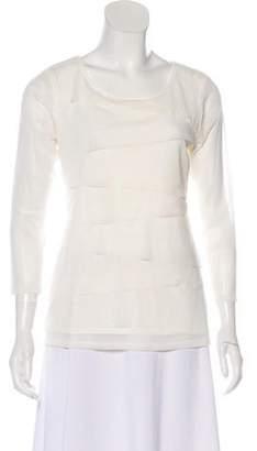 Alfani Pleated Long Sleeve Top