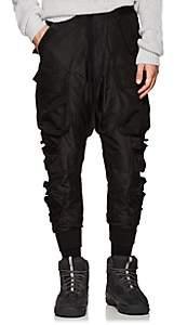 Taverniti So Ben Unravel Project Men's Multi-Pocket Silk Cargo Trousers - Black