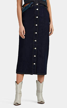 Katharine Hamnett Women's Janice Denim Midi-Skirt - Blue