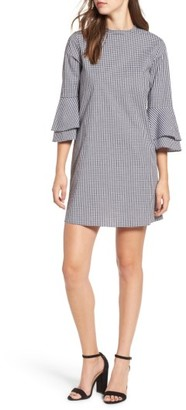 Women's Everly Flare Sleeve Gingham Dress $55 thestylecure.com