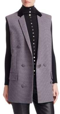 Alexander Wang Double-Breasted Check Vest