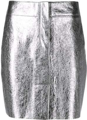 Sandro Paris short metallized skirt