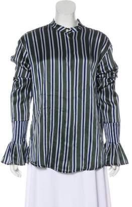 Maggie Marilyn Silk Striped Top