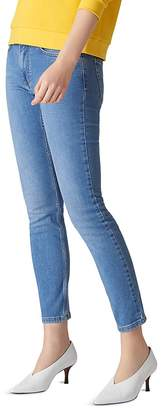 Whistles Mid Rise Skinny Jeans in Light Wash