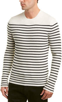 Vince Bretton Stripe Cashmere Crew Sweater