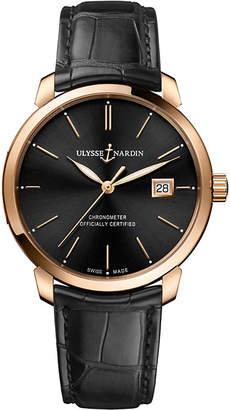 Ulysse Nardin 8156-111-2/92 Classico rose-gold watch