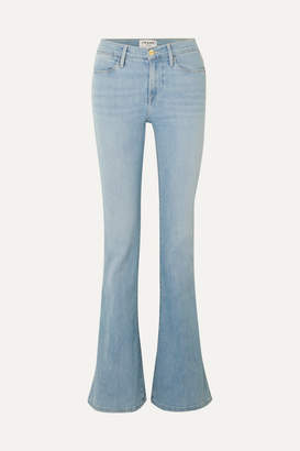 Frame Le High Flare Mid-rise Flared Jeans - Light denim