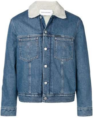 CK Calvin Klein shearling lined denim jacket