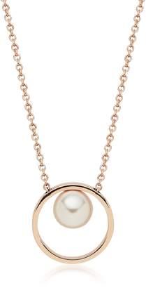 Skagen Agnethe Rose Gold-Tone Pearl Pendant Necklace