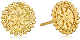 Satya Jewelry Plated Mandala Sun Stud Earrings