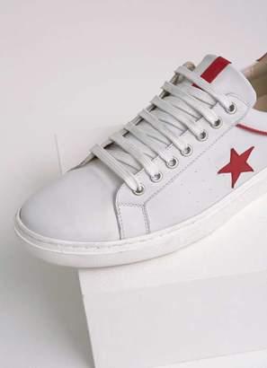 Mint Velvet Dulcie Contrast Red Star Trainer