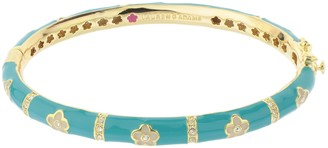 Ralph Lauren G. Adams G Adams Goldtone Colored Enamel Daisy Bangle