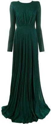 Elisabetta Franchi long metallized dress