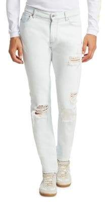 MSGM Distressed Cotton Jeans
