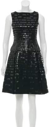 Oscar de la Renta Wool A-Line Dress Black Wool A-Line Dress