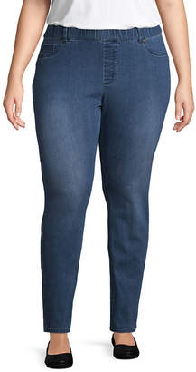 ST. JOHN'S BAY Pull On skinny Leg Denim - Plus