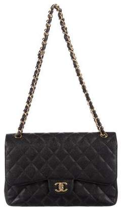 Chanel Caviar Classic Jumbo Double Flap Bag