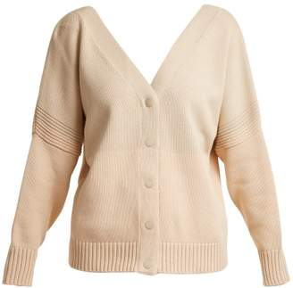 See by Chloe V-neck tri-colour cotton-knit cardigan