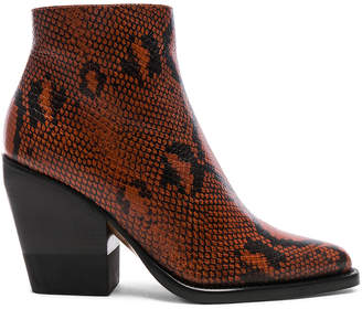 Chloé Python Rylee Print Leather Ankle Boots