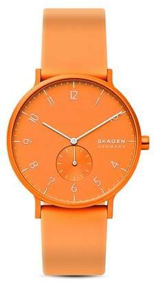 Skagen Aaren Kulør Silicone Strap Watch, 41mm