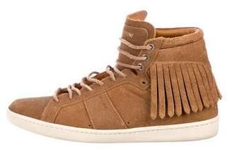 Saint Laurent Suede Finge Sneakers