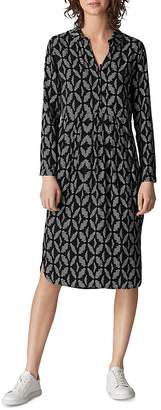 Whistles Courtney Geo-Print Dress