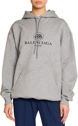 Balenciaga Logo Hooded Sweatshirt