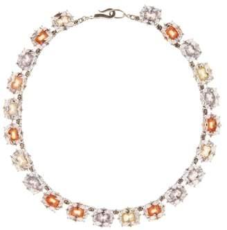 Bottega Veneta Cubic zirconia and sterling silver necklace