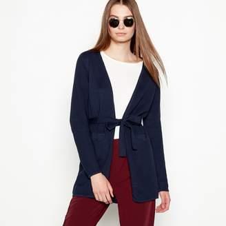 Minimum Navy Cotton 'Ginnie' Long Sleeve Longline Cardigan