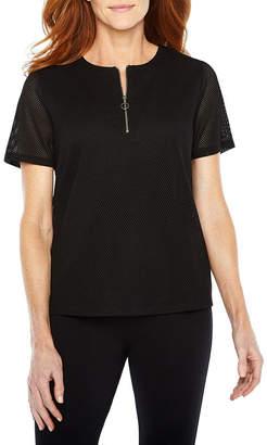 Sag Harbor Practice Gear Short Sleeve Crew Neck T-Shirt-Womens