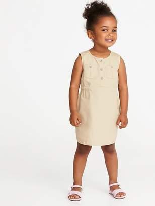 Old Navy Poplin Utility Dress for Toddler Girls