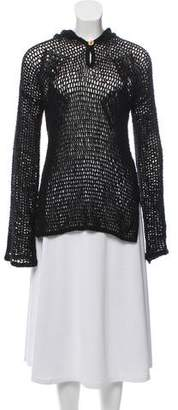 Raquel Allegra Crochet Long Sleeve Top