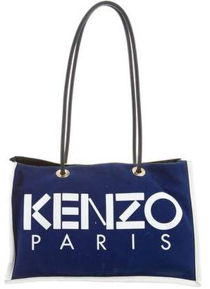 Kenzo Leather-Trimmed Logo Tote