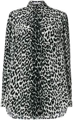 Givenchy leopard print balloon sleeve shirt