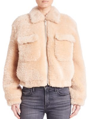 Helmut Lang Teddy Shearling Jacket $1,995 thestylecure.com