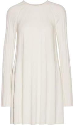 Elizabeth and James - Gerri Ribbed-knit Mini Dress - Ivory