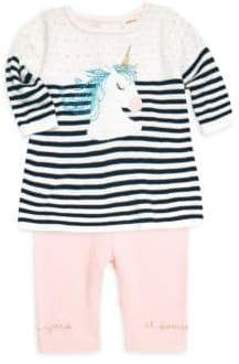 Catimini Baby Girl's Two-Piece Unicorn Top& Leggings Set