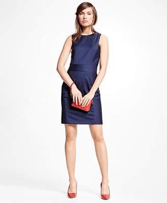 Wool Blend Pinstripe Dress $198 thestylecure.com