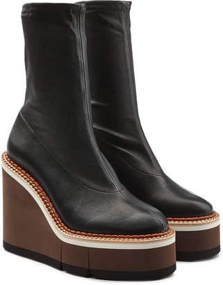 Robert Clergerie Britt Leather Platform Boots
