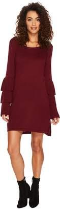 Kensie Soft Sweater Dress with Ruffle Sleeve KSNK8151 Women's Dress