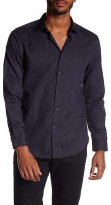 John Varvatos Collection Slim Fit Patterned Sport Shirt
