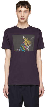 Paul Smith Purple Organic Zebra T-Shirt