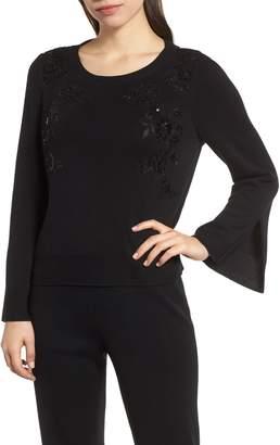 Ming Wang Mink Wang Sequin Sweater