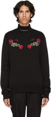 John Lawrence Sullivan Johnlawrencesullivan Black Embroidered Sweater