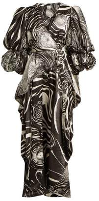 Whitely Aje - X Brett Starry Night Print Blouse - Womens - Black White